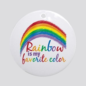 Rainbow Favorite Color Ornament (Round)