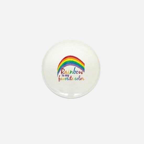 Rainbow Favorite Color Mini Button