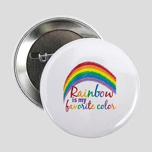"""Rainbow Favorite Color 2.25"""" Button"""