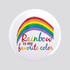 """Rainbow Favorite Color 3.5"""" Button"""
