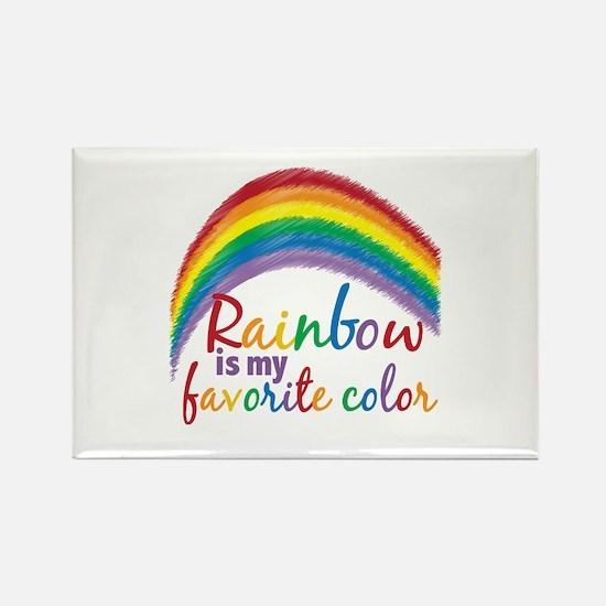 Rainbow Favorite Color Rectangle Magnet