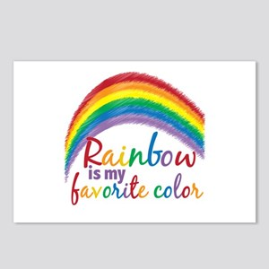 Rainbow Favorite Color Postcards (Package of 8)