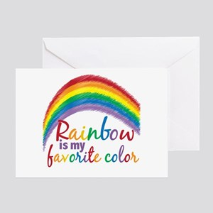 Rainbow Favorite Color Greeting Card