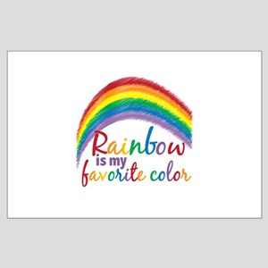 Rainbow Favorite Color Large Poster