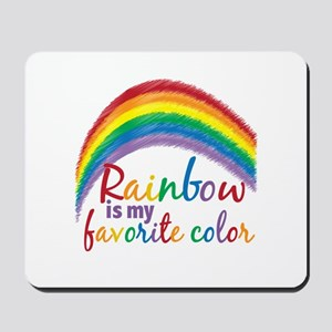 Rainbow Favorite Color Mousepad