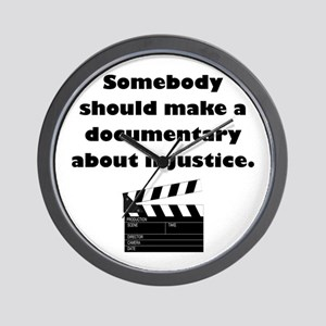 Documentary Injustice Wall Clock