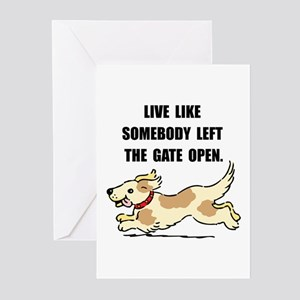 dog gate open greeting cards pk of 10 - Humane Society Christmas Cards