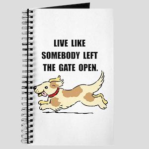 Dog Gate Open Journal