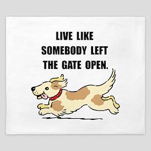 Dog Gate Open King Duvet