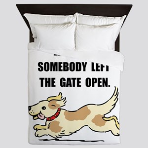 Dog Gate Open Queen Duvet