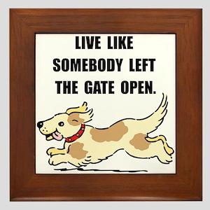 Dog Gate Open Framed Tile