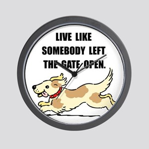 Dog Gate Open Wall Clock