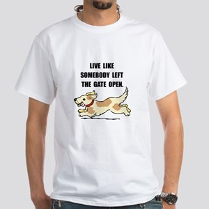 Dog Gate Open White T-Shirt