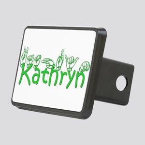 Kathryn in ASL Rectangular Hitch Cover
