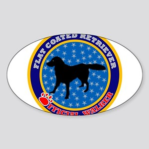 Flat Coated Retriever Oval Sticker