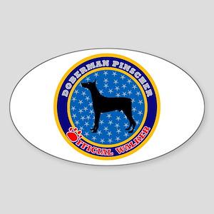 Doberman Pinscher Oval Sticker