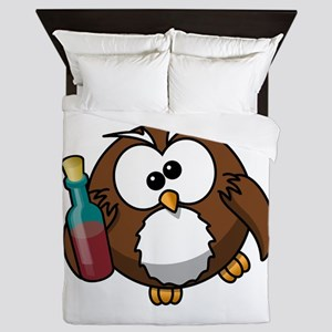 Drunk Owl Queen Duvet