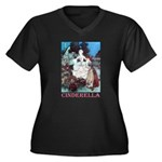 Cinderella Women's Plus Size V-Neck Dark T-Shirt