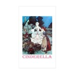 Cinderella Sticker (Rectangle 50 pk)