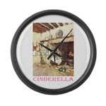 Cinderella Large Wall Clock