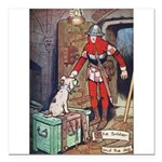 The Soldier and The Dog Square Car Magnet 3