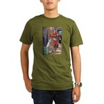 The Soldier and The Dog Organic Men's T-Shirt (dar