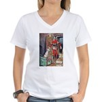 The Soldier and The Dog Women's V-Neck T-Shirt