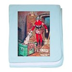 The Soldier and The Dog baby blanket