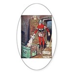 The Soldier and The Dog Sticker (Oval)