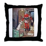The Soldier and The Dog Throw Pillow