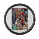 The Soldier and The Dog Large Wall Clock