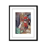 The Soldier and The Dog Framed Panel Print