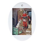 The Soldier and The Dog Ornament (Oval)