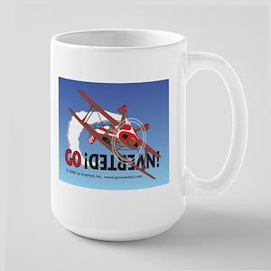 Colored Biplane Design Large Mug