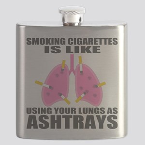 Ashtray Lungs Flask