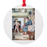 The Naughty Boy Round Ornament