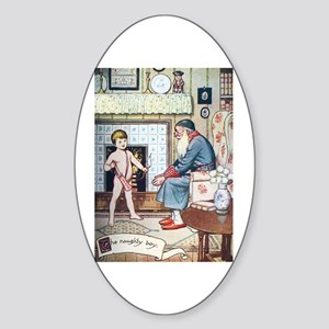 The Naughty Boy Sticker (Oval)