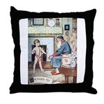 The Naughty Boy Throw Pillow
