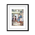 The Naughty Boy Framed Panel Print