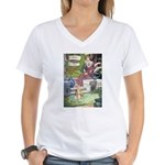 The Queen and Elise Women's V-Neck T-Shirt