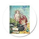 The Little Mermaid Round Car Magnet