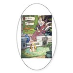 The Queen and Elise Sticker (Oval 50 pk)