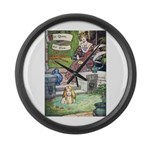 The Queen and Elise Large Wall Clock