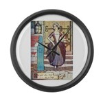 The Girl Who Trod on the Loaf Large Wall Clock