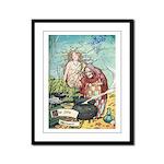 The Little Mermaid Framed Panel Print