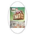 The Flying Trunk Sticker (Oval 50 pk)