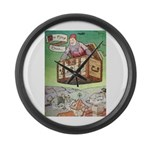 The Flying Trunk Large Wall Clock
