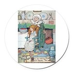 The Old Woman and Gerda Round Car Magnet