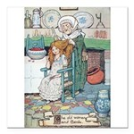The Old Woman and Gerda Square Car Magnet 3