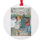The Old Woman and Gerda Round Ornament